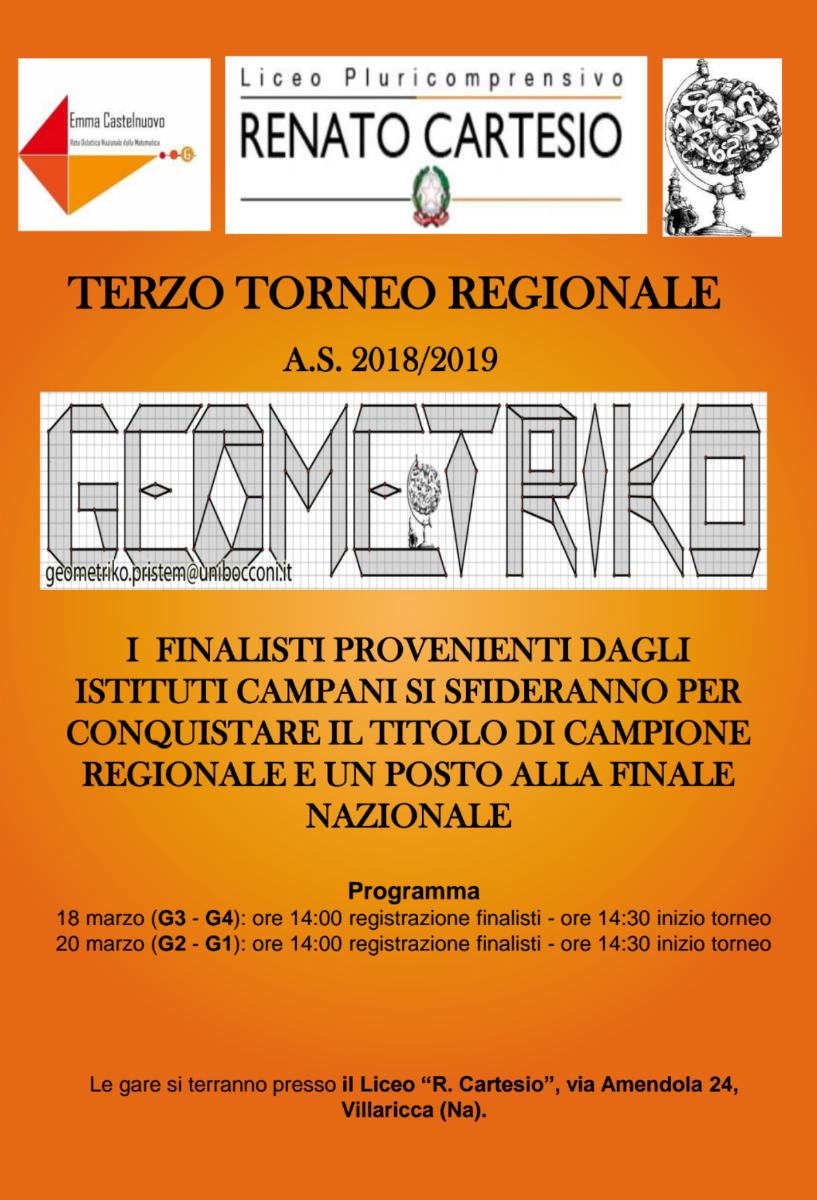 TORNEO REGIONALE DI GEOMETRIKO