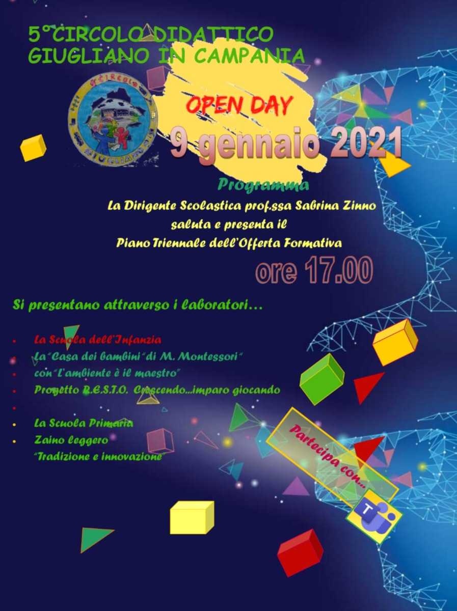 VIRTUAL OPEN DAY 2020- 9 GENNAIO 2021